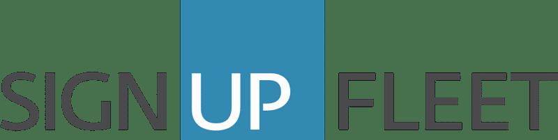 sign up fleet logo with transparent background
