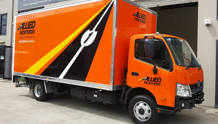 allied pickfords fleet signage