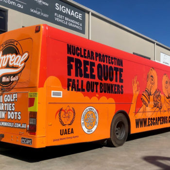 escape bus wrapping in sydney