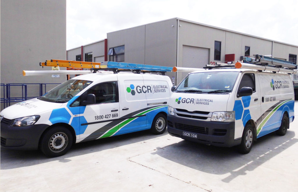 GCR electrical services van wrapping