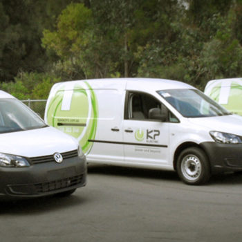 kp electric fleet signage displayed in sydney