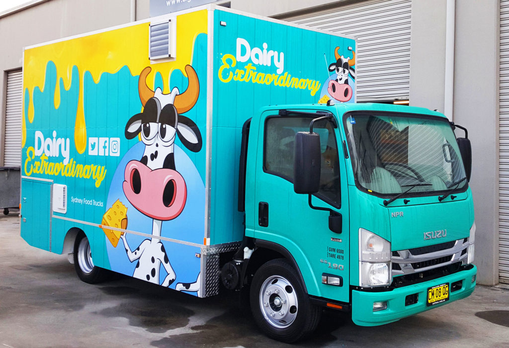 dairy food truck signage