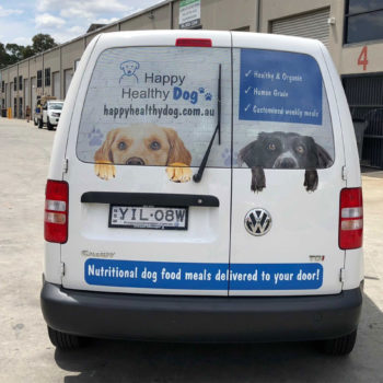 happy healthy dog car decals