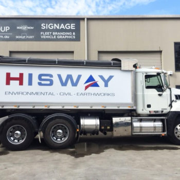 hisway truck sign writing