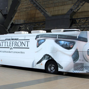 star wars battlefront bus wrapping
