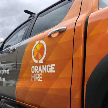 orange hire fleet branding