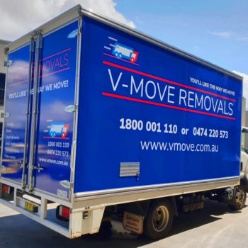 Removalist truck signage