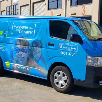 royal life saving van wraps sydney