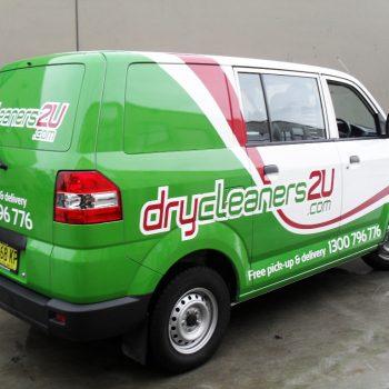 dry cleaners 2U van half wrap
