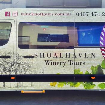 shoalhaven winery tour van wraps