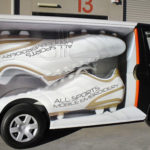 creative graphics printing and advertising on vehicles