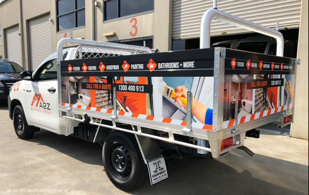 a2z building group ute signs