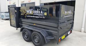 magnolia landscapes trailer signage