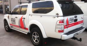 fire safety vehicle signage